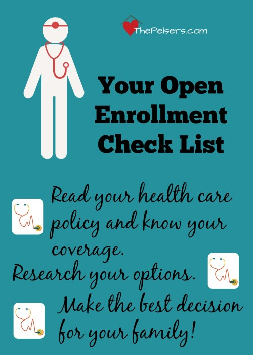 A simple check list for open enrollment.
