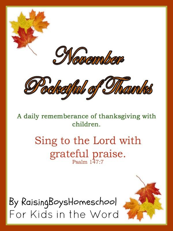 Pocketful of Thanks-RaisingBoysHomeschool