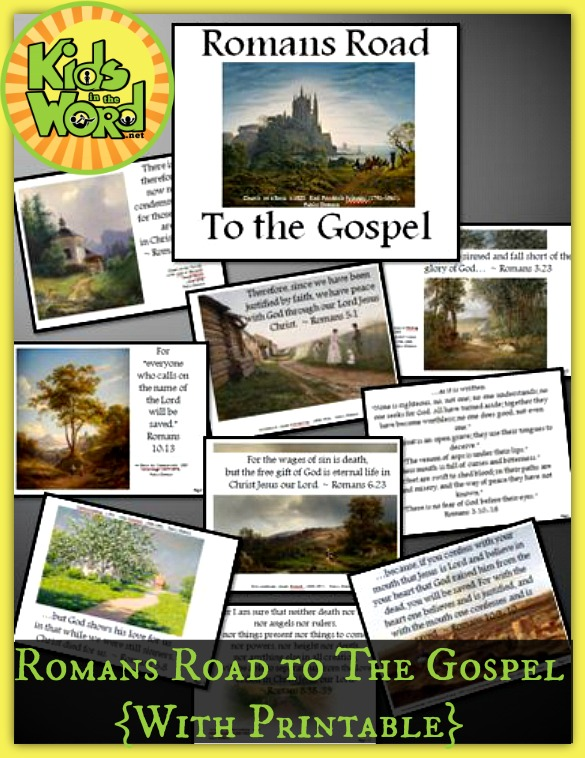 photo relating to Romans Road Kjv Printable called Romans Highway Towards the Gospel with Printable Booklet