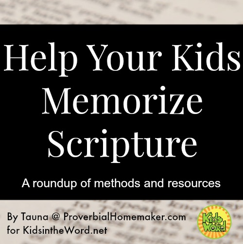 Methods and resources for teaching Bible verses to kids.