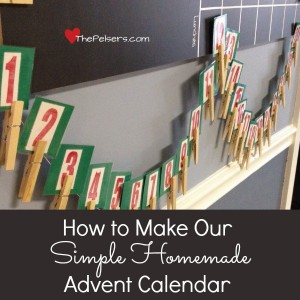 Our Simple Homemade Advent Calendar