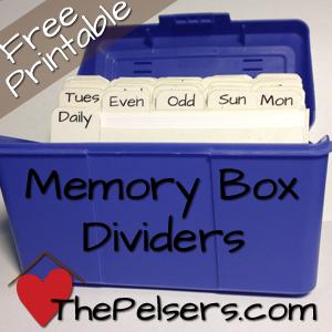 Memory-Box-Dividers