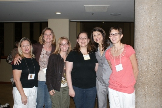 Bloggers with Pam Tebow