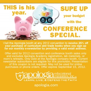 Great Deal from Apologia at Conventions/Conferences