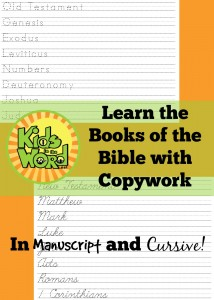 Learning the Books of the Bible with FREE Printable