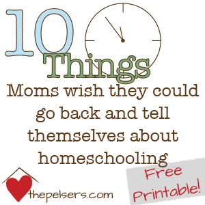 10 Things Mom's Homeschooling Printable