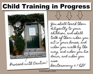 Child Training in Progress