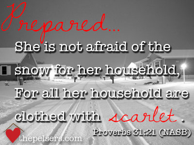Proverbs 31 Woman Not Afraid of Snow
