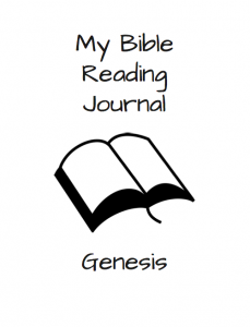 Bible Reading Journal - Genesis