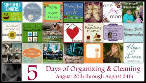 5 Days of Organizing Footer