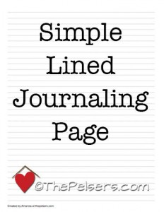 Simple-Lined-Journaling-Page