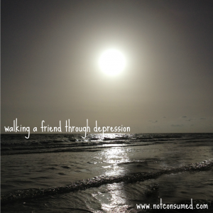 At Not Consumed: Walking a Friend Through Depression