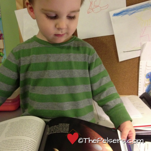 Jacob Reading The Stargazers Guide