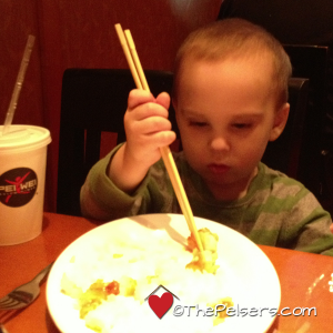 Jacob Trying Chopsticks