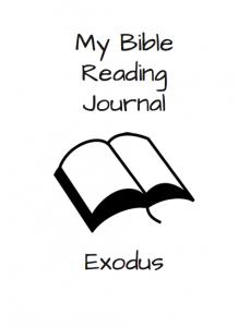 Exodus Bible Reading Journal