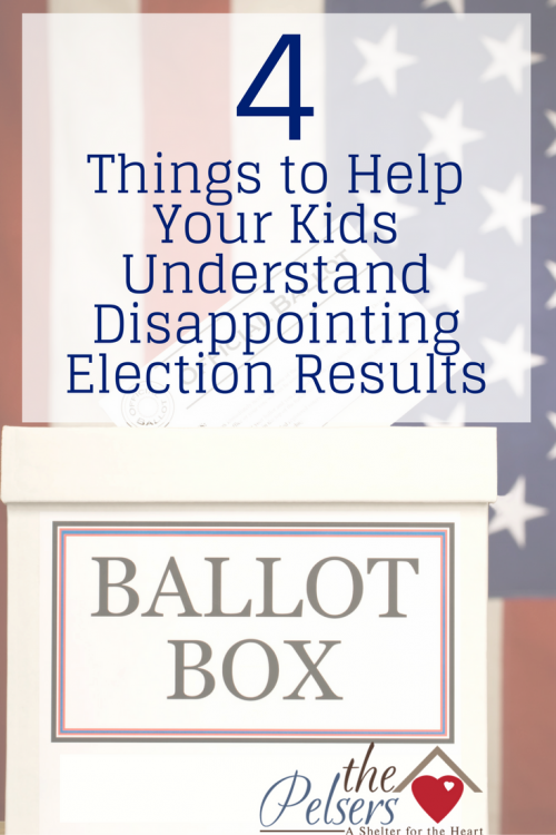 Tips for teaching your kids to have a good attitude about election results