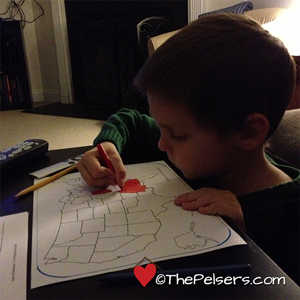 Jonathan coloring election map