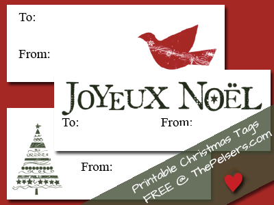 Printable Christmas Tags 2012