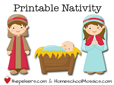 Insane image inside printable nativity scene