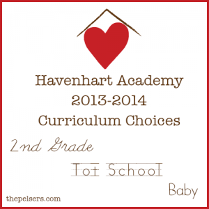 2013-2014 Homeschool Curriculum Choices