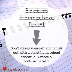 Back to Homeschool Tip #1: Routine