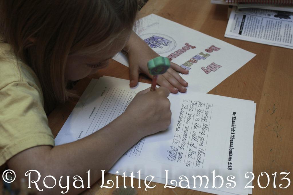 Royal Little Lambs Be Thankful