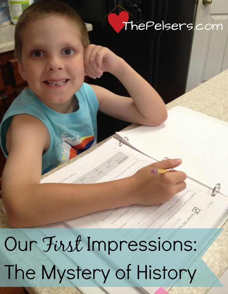Our First Impressions: The Mystery of History Volume 2. I'm so glad we switch to MoH. Click to read how we're using it and why we like it. #homeschool At ThePelsers.com.