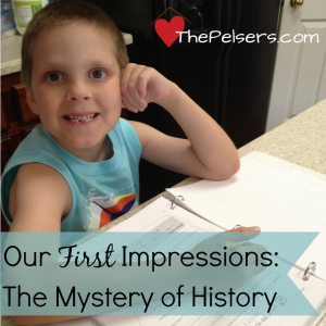 The Mystery of History: First Impressions