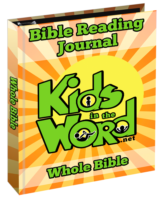 Take your kids through the Bible with your kids using this Bible Reading Journal.