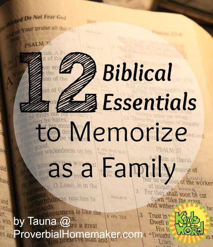 12 Biblical Essentials to Memorize