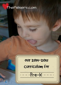 Our Preschool Curriculum for 2014-2015