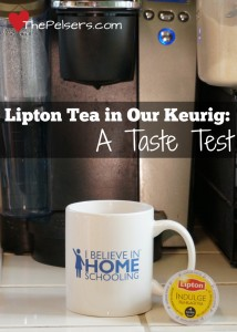 Lipton Tea in Our Keurig: A Taste Test