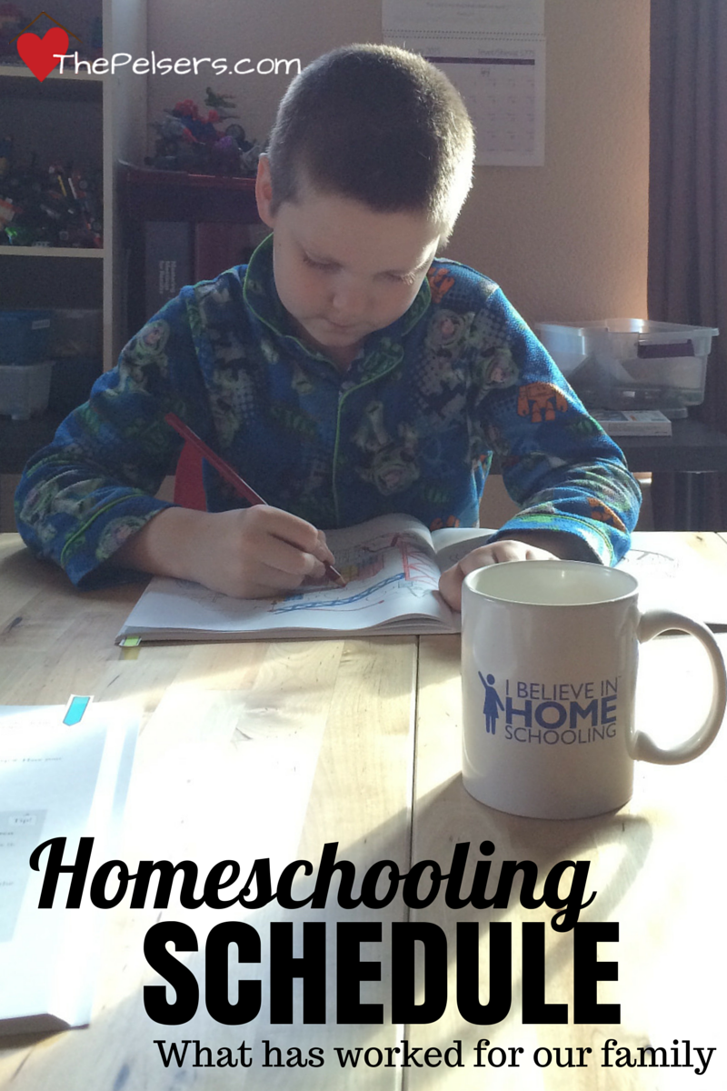 Homeschooling Schedule: This is what has worked for our family in various seasons.