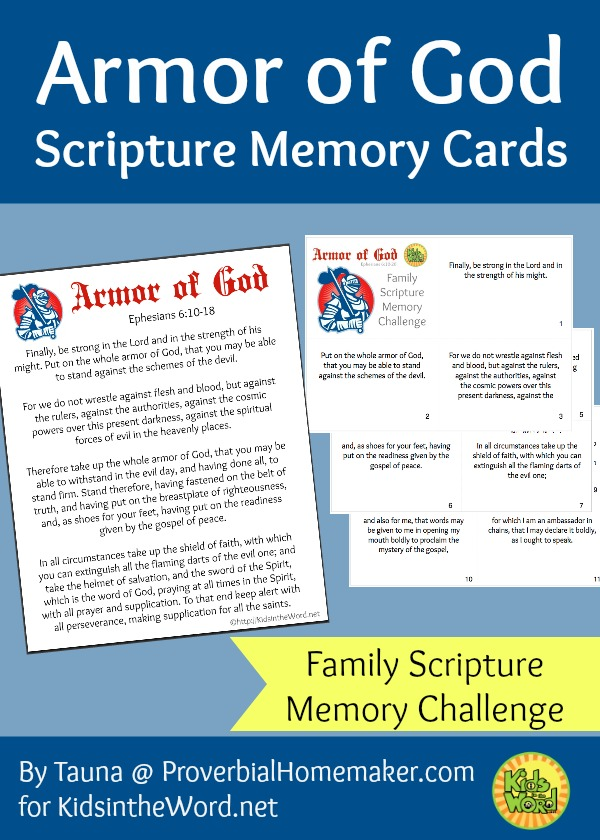 Ephesians 6:10-20 passage memorization cards