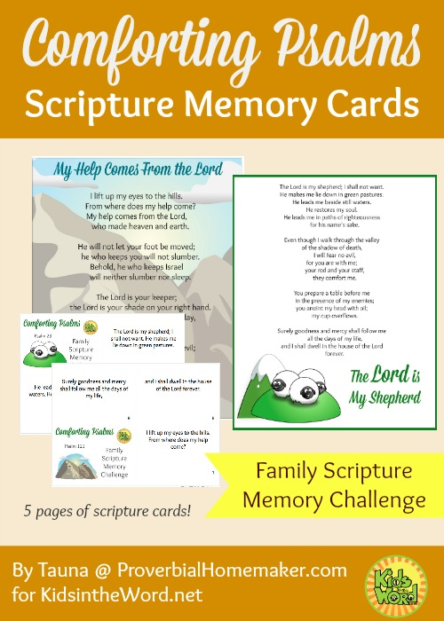 Comforting psalms to memorize as a family