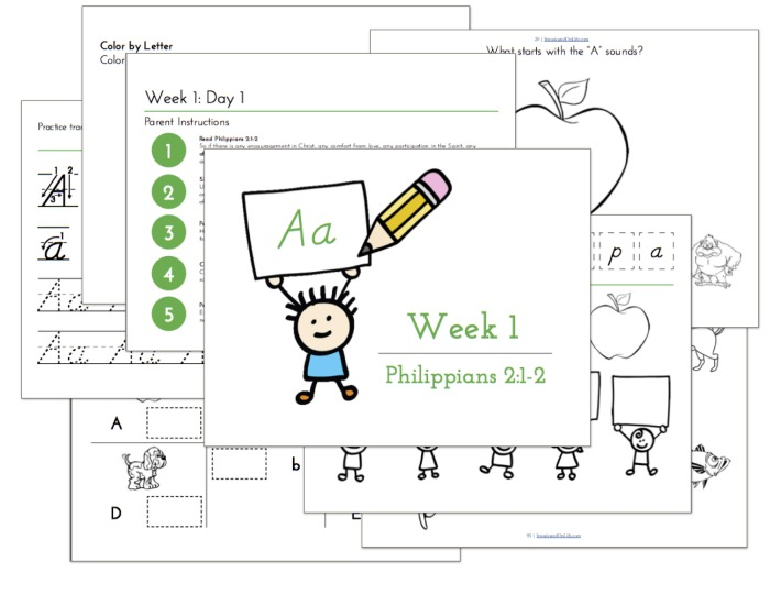 Teaching Handwriting with the Bible - Write Through the Bible Jr.