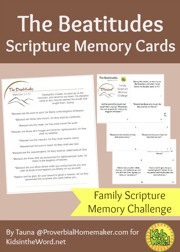The Beatitudes Scripture Memory Cards