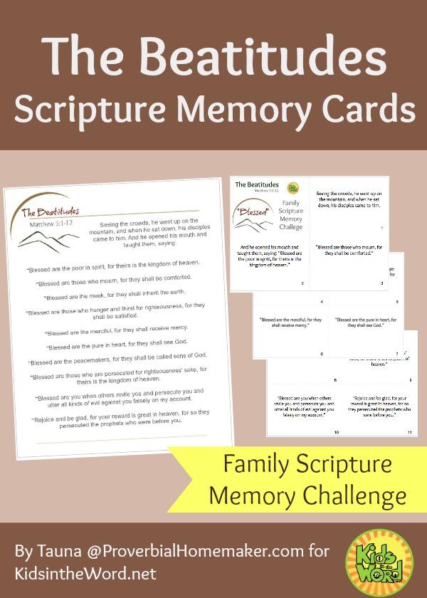 The Beatitudes Scripture Memory Cards