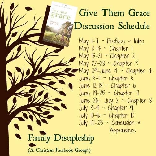 Give Them Grace Book Club Schedule