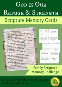 God is Our Refuge and Strength Psalm 46 1-11 Scripture Memory Cards