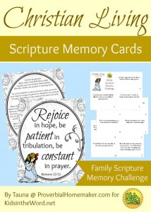 True Christian Living - Romans 12 Scripture Memory Cards