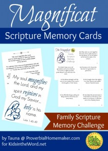 Magnificat Scripture Memory Cards - for the Family Scripture Memory Challenge